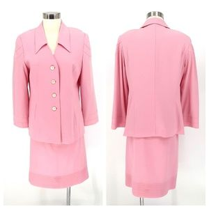Vintage Escada Skirt Suit Jacket Women's 40 P
